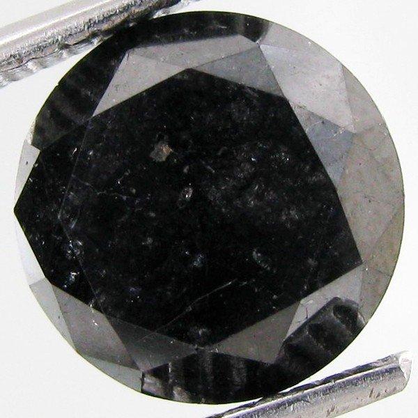 21A: 3.40ct Clean Black Diamond Oval