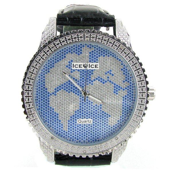 10: New Ice Time Mens Diamond Bezel Watch