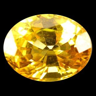 2372: 0.86ct Awesome Oval Cut Yellow Sapphire