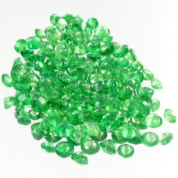 4: 1.05ct Green Tsavorite Garnet Oval Cut Parcel