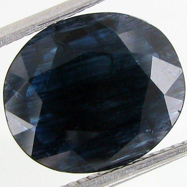 2: 4.7ct Deep Blue Green Sapphire Oval