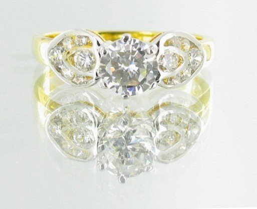 13: 15twc Lab Diamond 22k Gold Vermeil Ring