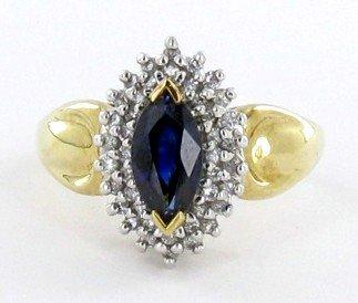 6C: 1.7ct Ceylon Blue Sapphire & Diamond 10k Ring