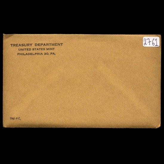 1: 1961 RARE Unopened Envelope Proof Set