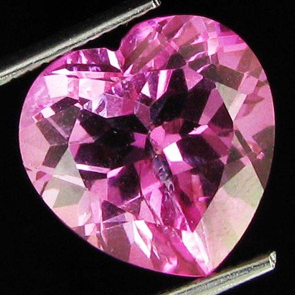 4: 7.1ct Brazil Pink Topaz Heart Cut