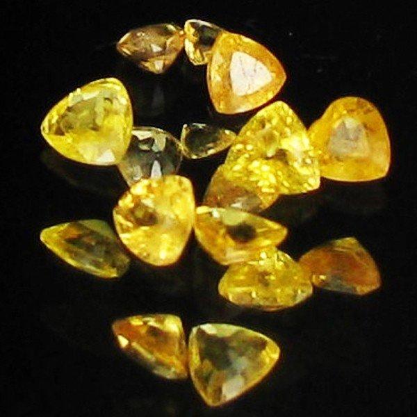 7: 1ct Yellow Sapphire Trillion Parcel