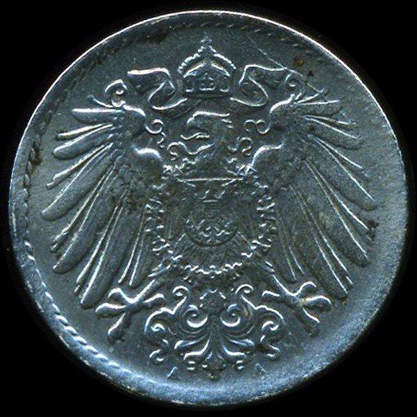 12: 1918A Germany 5pf XF ERROR