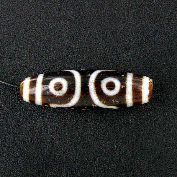 2A: Tibet Agate Bead Choker Necklace EST: $60 - $120 (J