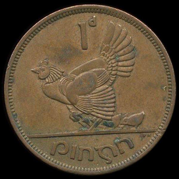 3A: 1942 Ireland 1p AU EST: $15 - $30 (COI-10176)