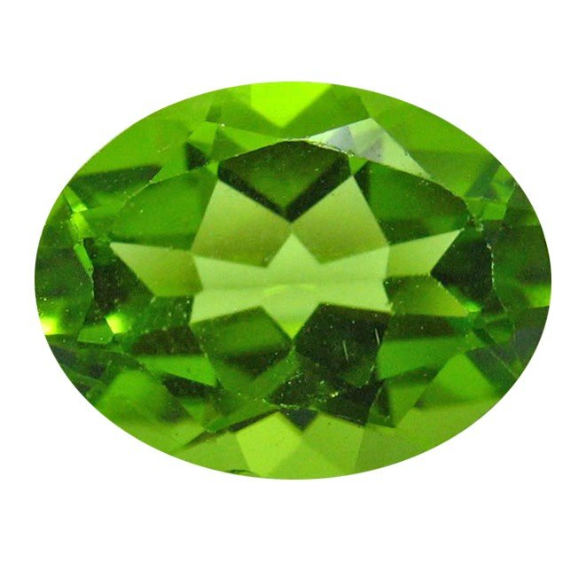 4A: 2.30 ct Natural Lustrous Oval Green Peridot EST: $4