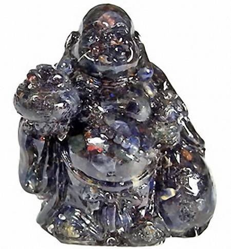 5A: 240ct. Blue Sapphire Chinese Happy Buddha Statue ES