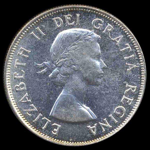 1396: 1950 Canada 50c Gem Unc Rare Variety EST: $600 -