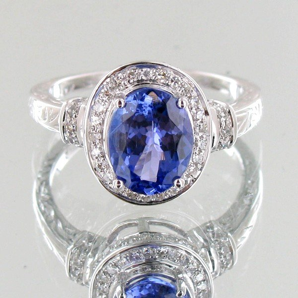 21: 2.13ct Tanzanite Diamond 14k Ring EST: $4200 - $840