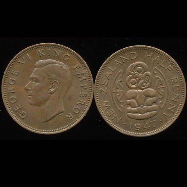 24: 1946 New Zealand 1/2p UNC EST: $27 - $54 (COI-10199