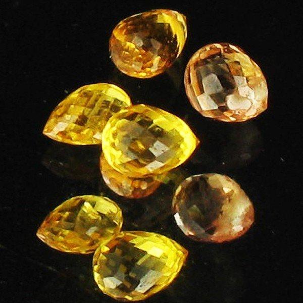 28: 1.12ct Yellow Sapphire Briolette Parcel EST: $21 -