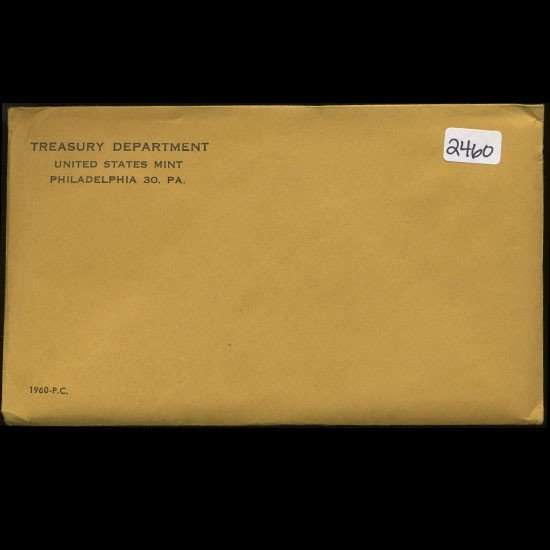30: 1960 RARE Unopened Envelope Proof Set  EST: $270 -