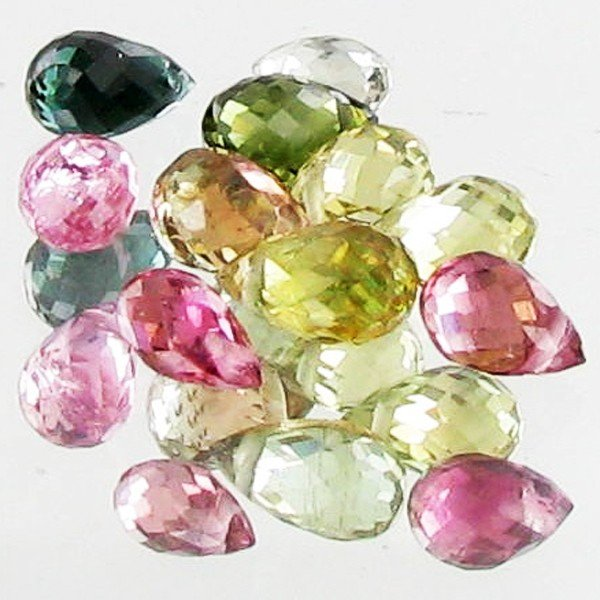 68: 3.55ct Fancy Tourmaline Briolette Parcel EST: $48 -