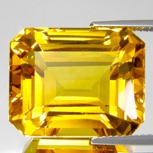 72: 2.25ct. Octogon Natural Citrine Gem 8x10mm EST: $9