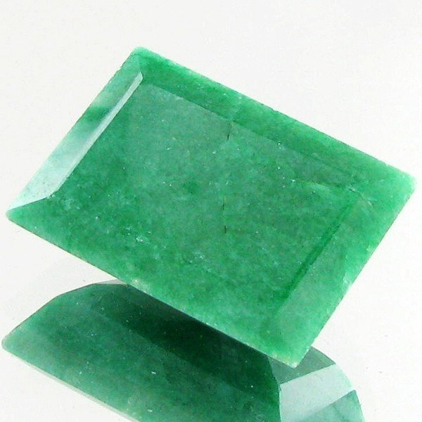 86: 45.6ct Excellent Rectangle Cut S. American Emerald