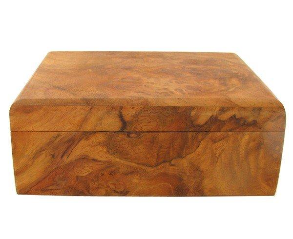 2965A: Handcrafted Afzelia Burl Box
