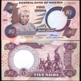 1984 Nigeria 5 Niara Note Crisp Unc Note EST: $9 - $