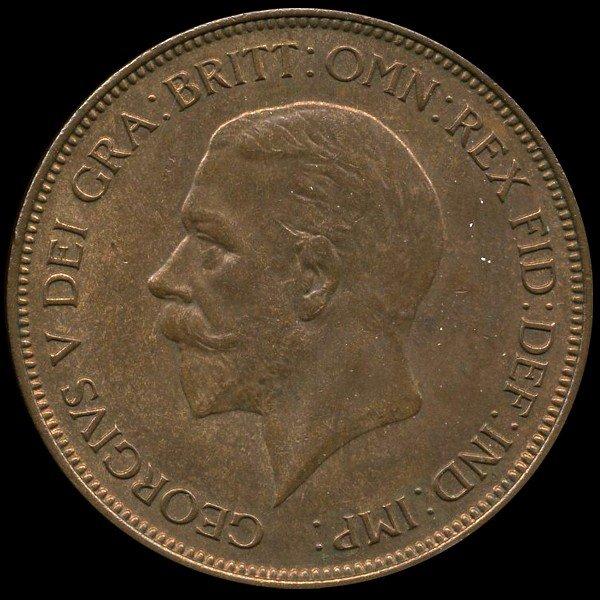 13: 1936 British Geo V 1p Uncirculated MS64 EST: $54 -