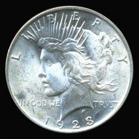 1923 Peace Dollar Super GEM MS65+ EST: $255 - $510