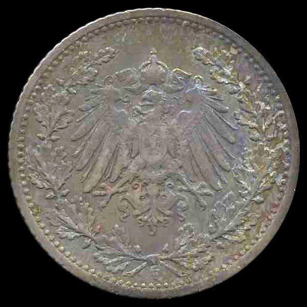 89: 1905F Germany 50 Pfg PROOF RARE EST: $150 - $300 (C