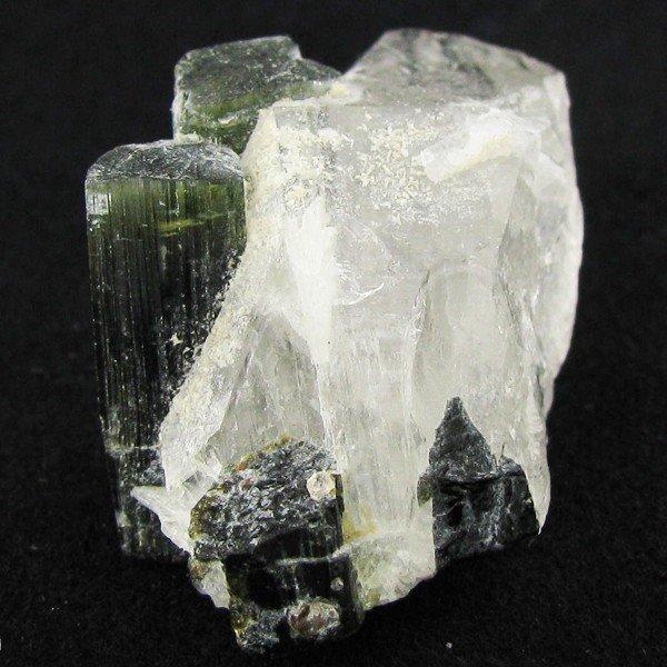 104: 58ct Bi-Color Tourmaline Crystals on Matrix EST: $
