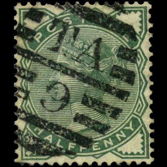 99A: 1870 Britain 1/2p Victoria Stamp