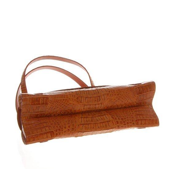 2785A: Ladies Brown Crocodile Hide Skin Handbag - 5