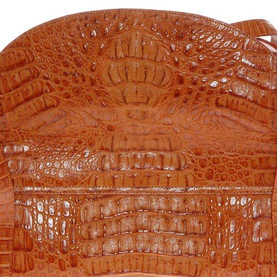 2785A: Ladies Brown Crocodile Hide Skin Handbag - 6