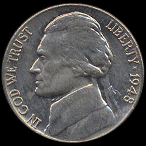 25: 1948 Jefferson 5c MS63 w/ Full Steps