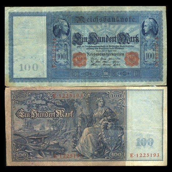 26: 1910 Germany 100 Mark Note Hi Grade Rare
