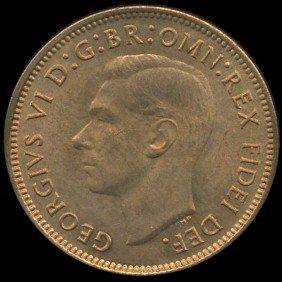 1950 Britian 1/4p MS64/65