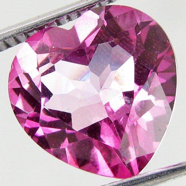31: 6.2ct  Mystic Pink Heart Topaz