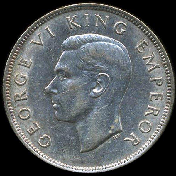35: 1943 New Zealand 1/2 Crown AU