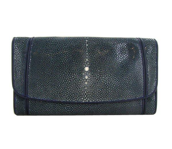 93: Ladies Stingray Hide Clutch Purse Wallet