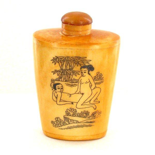 822: Kamasutra Chinese Bone Snuff Bottle