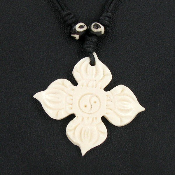 2318: Tibet Bone Agate Bead Choker Necklace