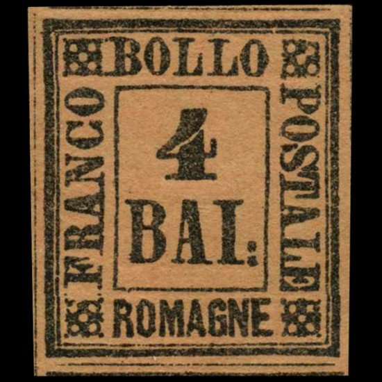 25A: 1859 Romagna 4b Stamp MINT Hinged
