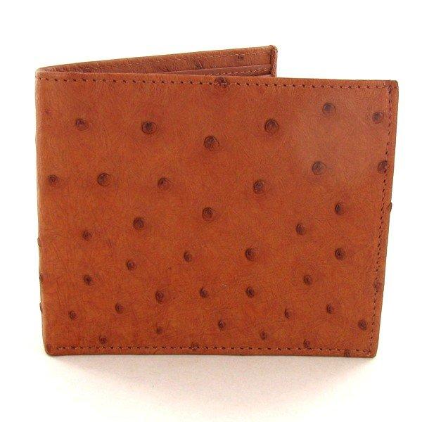 79A: Mens Ostrich Hide Skin Wallet