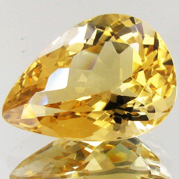 90A: 33.4ct Top Bahia Brazil Golden Citrine
