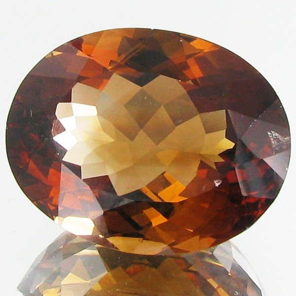 638A: 47.13ct Oval Brown Orange Imperial Topaz Brazil
