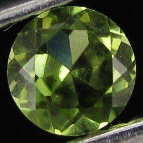 0.4ct AAA Green Peridot Round