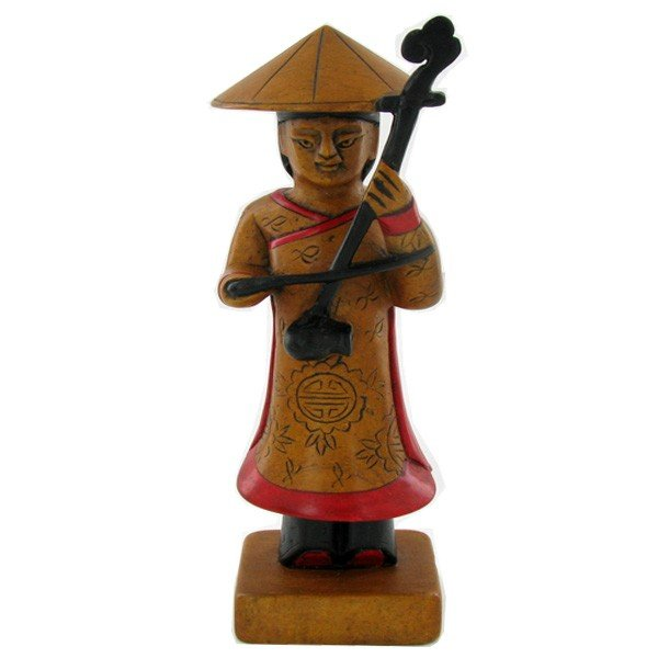 65: Handcarved Marble Chinese Musician