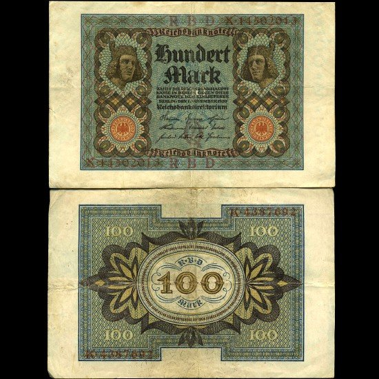 1829: 1920 Germany 100 Mark Note Hi Grade