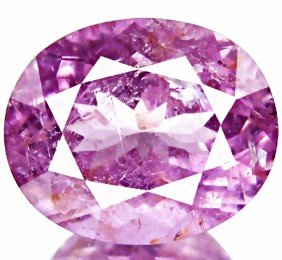 4.85ct  Soft Purple Pink Cuprian Tourmaline Oval