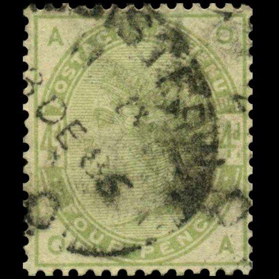 72A: 1884 Britain 6p Victoria Stamp