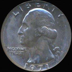 1971D Washington 25c Quarter Coin Graded GEM